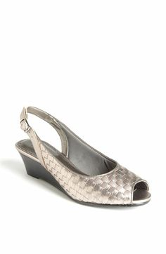 """Pewter, Trotters """"Mimi"""" sandal...still want blue, but looks comfy."""