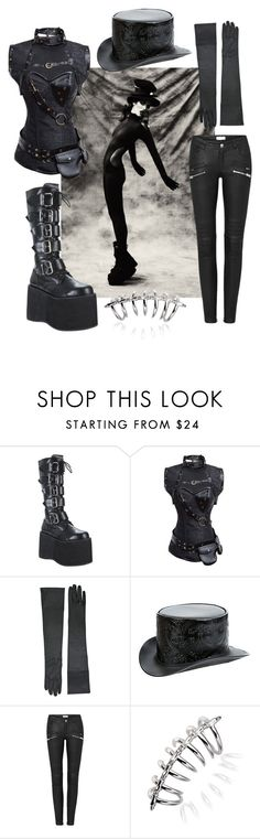 """GOthic"" by sofia-tiso ❤ liked on Polyvore featuring Pleaser, Overland Sheepskin Co. and Stephen Webster"