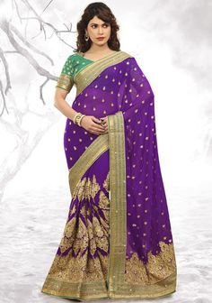 Charming Purple #Saree