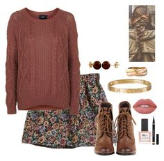 """""""princess autumn"""" by roney121 ❤ liked on Polyvore featuring Topshop, Splendid Pearls, Cartier, Lime Crime, ncLA and Yves Saint Laurent"""