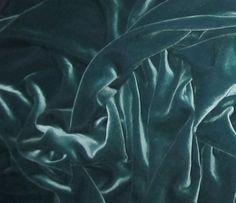 IRIDESCENT AQUA Silk Velvet Fabric  fat 1/4 by silkfabric on Etsy, $6.75