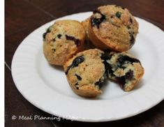 Blueberry Oatmeal Muffins - healthy cooking