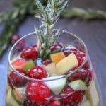 "Cranberry & Rosemary White ""Christmas"" Sangria | Jodeze Home and Garden"