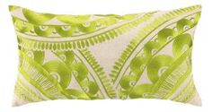 Trina Turk Tribal Embroidered Pillow in Green. Product in photo is from www.wellappointedhouse.com