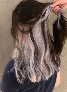 Under Hair Dye, Under Hair Color, Hidden Hair Color, Cool Hair Color, Hair Color Streaks, Hair Dye Colors, Hair Color Underneath, Haircuts Straight Hair, Hair Upstyles