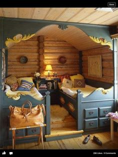 Neat kids or guest room idea
