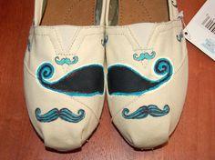 my #mustache #toms