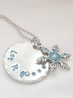 Frozen Necklace - Hand Stamped Jewelry - Let It Go Necklace - Quote Necklace - Movie Necklace - Elsa - Anna - Personalized Jewelry - Frozen on Etsy, $12.00