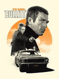 Tomorrow we will have a pair of truly gorgeous posters by Matthew Woodson for one of the best crime thrillers ever put to film: BULLITT. The 1968 classic, starring Steve McQueen and directed by Peter Yates, is notorious for featuring what is arguably the greatest car chase in film history. It's truly an all-timer. Matt