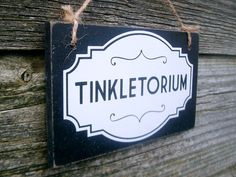 Thanks for checking out my listing. Help your guests locate the bathroom (or tinkletorium) with this classy hand made sign. Size; 12.7 cm x