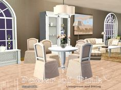 Power of Pink Living and Diningroom by ShinoKCR - Sims 3 Downloads CC Caboodle