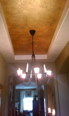 My work. Ceiling paint .
