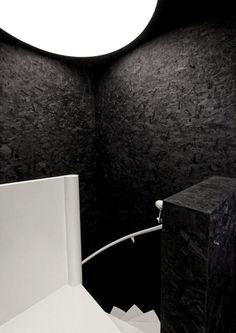 OSB painted black with white contrast OSB painted high contrast colors Fiat Lux by Label Architecture