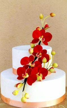 Red Orchids - Cake by Anand
