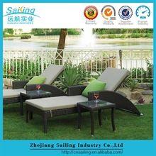 Muebles de jardín al aire libre Set Rattan Chaise Lounge Silla plegable Venta