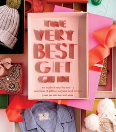 Jcrew Holiday Gift Guide email marketing. Love the creative typography: