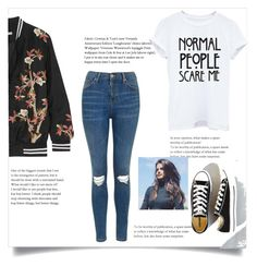A fashion look from May 2017 featuring white blouse, flower bomber jacket and high rise skinny jeans. Browse and shop related looks. Normal Wallpaper, Print Wallpaper, Lee Jofa, Cole And Son, Vivienne, Alice Olivia, Polyvore Fashion, Topshop, Converse