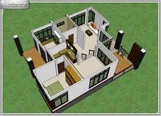 Modern Single Detached House - House And Decors Beautiful House Plans, Dream House Plans, House Floor Plans, Beautiful Homes, Small House Design, Modern House Design, 2 Storey House, Brick Accent Walls, House Plans 3 Bedroom