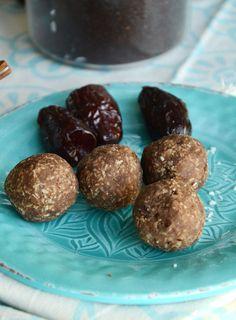 Coconut Mocha Protein Balls - Vegan, Only 4 Ingredients, Low in Fat