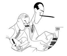 George and Ira Gershwin by Al Hirschfeld!