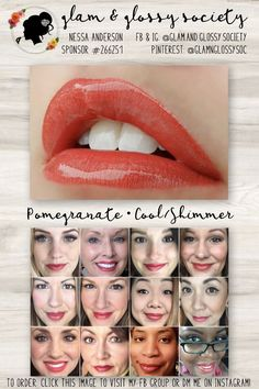 Pomegranate LipSense, Cool/Blue Base, Shimmer Finish To Order: Click this image to visit Glam & Glossy Society's FB Client Group or DM me on Instagram @Glam.and.Glossy.Society  Keywords: Lips, beauty, makeup, fashion, 2017, matte, gloss, lip color, lip stick