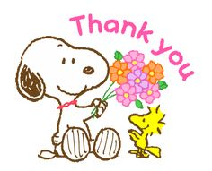 LINE Official Stickers - Super Spring Snoopy Animated Stickers Example with GIF Animation Thank You Snoopy, Snoopy Love, Thank You Flowers, Flowers Gif, Peanuts Cartoon, Peanuts Snoopy, Snoopy Und Woodstock, Blessed Friends, Snoopy Images