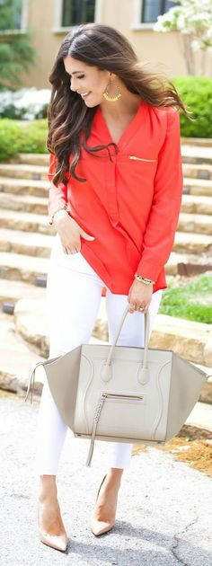 Red And White Outfit Idea by The Sweetest Thing