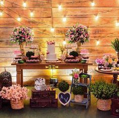 romantic flowers to decorate wedding party 12 Diy Wedding, Rustic Wedding, Dream Wedding, Birthday Decorations, Wedding Decorations, Table Decorations, Decor Wedding, Dessert Table Decor, Romantic Flowers