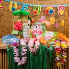 Luau Party Ideas For Kids by fairyfabs Cute fair well note idea on index cards and placed in library card holders