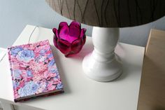 DIY: Hide your cell phone in a pretty book while it charges!! // Caught On A Whim | another gr8 covered-book idea from Erica