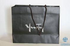 bolsa plastificada mate con cordón largo