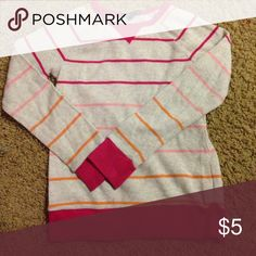 ☃️Gap Kids thermal (S6/7) EUC☃️ EUC thermal. Heather color with orange, light pink, and dark pink strips. GAP Shirts & Tops Tees - Long Sleeve