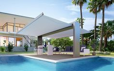 Multifunctional exterior architectonical arc: Gate Shade