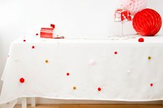 Pom Pom Table Cloth from The Sweetest Occasion