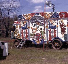 Tableau Ticket Wagon ::Tableau ticket wagon with Faye. April 26, 1947.