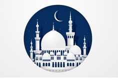 mosque paper cutting vector by lyeyee on @creativemarket