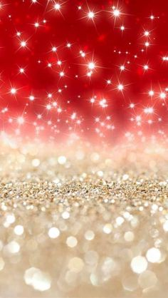 Beautiful red and gold Blink blink~ iPhone glitter wallpaper