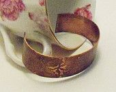amazing handmade copper jewelry / Floral etched copper cuff