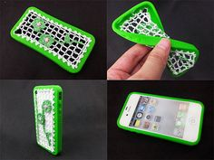 iphone 4 case / iphone 4S case / knited and silicone by JYCASE, $9.99