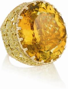 Buccellati citrine and gold ring