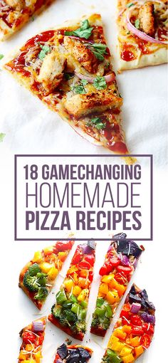 18 Gamechanging Homemade Pizza Recipes - i want to eat ALL of these Bbq Chicken Flatbread, Flatbread Pizza, Pizza Pizza, Margherita Flatbread, Goat Cheese Pizza, Instant Pot, Cooking Recipes, Healthy Recipes, Gourmet Recipes