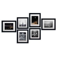 Trademark Fine Art - Urban Gallery Wall Collection' Multi-Panel Matted Framed Canvas Art Set - Prints and Posters Black Framed Art, Framed Wall Art, Wall Mirrors, Framed Canvas, Wall Sconces, Gallary Wall, Urban Home Decor, Only Play, Wall Art Sets