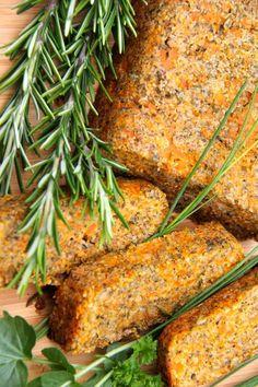 Vegan Seed & Carrot Roast Loaf #Grain Free #Gluten Free