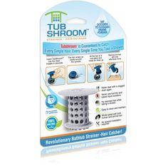 Free Shipping. Buy TubShroom Revolutionary Hair Catcher Drain Protector for Tub Drains (No More Clogs) Gray at Walmart.com