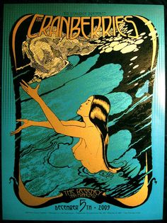 The Cranberries at The Regency SF poster by Chuck Sperry