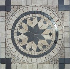 Tumbled Travertine and Granite Floor or Wall Art Medallion / Mosaic By: Stone Deals Stone Deals http://www.amazon.com/dp/B010TRHW36/ref=cm_sw_r_pi_dp_YzdUvb108GC6V