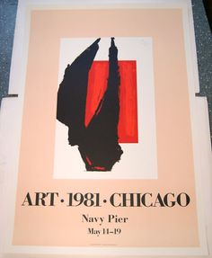 Art•1981•Chicago by Robert Motherwell/Limited Ed. 4-Color Poster/Tyler Graphics #Abstract