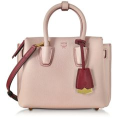f9ef0c8d16 MCM Milla Pale Mauve Leather Mini Tote ( 720) ❤ liked on Polyvore featuring  bags