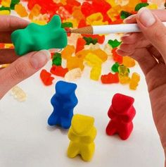 Your child will look forward to math class if it means using this gummy bear sharpener.