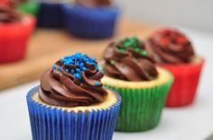 Cupcakes de creme de avelã